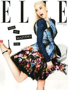 Gwen Stefani - Elle Magazine UK Subscriber's cover, October 2012