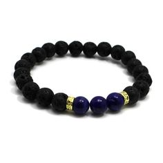 Earth and Lava Bracelets. - Deep Ocean and Lava - $19