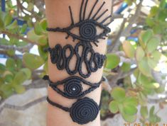 Black macrame bracelet set of 4 by lulupica on Etsy, $74.00