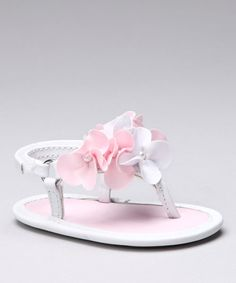 This Designer's Touch White Estelle Soft-Sole Sandal by Designer's Touch is perfect! #zulilyfinds