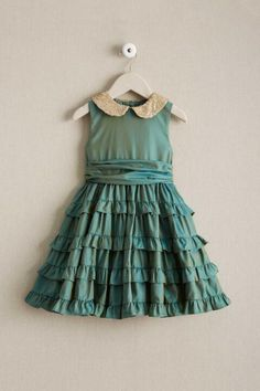 """""""Shop Chasing Fireflies for our Girls Iridescent Ruffled Dress. Browse our online catalog for the best in unique children's costumes, clothing and more. Girls Frock Design, Kids Frocks Design, Cotton Frocks For Girls, Baby Frocks Style, Kids Outfits Girls, Girl Outfits, Kids Lehenga, Girl Dress Patterns, Sewing Patterns"""