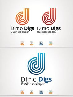 Dimo Digs,D Letter Logo