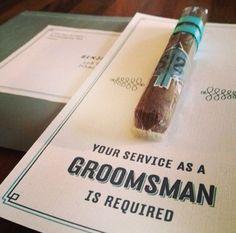 Groomsmen invites
