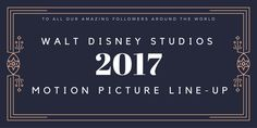 Get Ready for More Great Movies! Walt Disney Studios 2017 Movie Line-Up http://anopensuitcase.com/2017-disney-studios-movies/