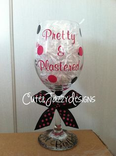 Personalized Birthday Wine Glass by CuteandJazzyDesigns on Etsy