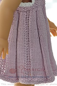American girl doll knitting patterns - Summery and sweet in lilac and white