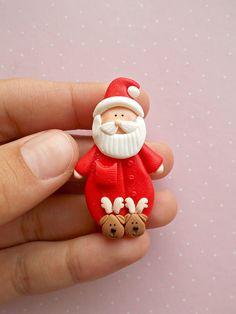 Christmas Pin Brooch - Stocking filler - Santa brooch - Santa jewelry - Secret Santa Gift ideas - Santa Claus pins by Nahoot on Etsy https://www.etsy.com/listing/534962274/christmas-pin-brooch-stocking-filler