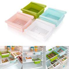 Diy Kitchen Fridge Space Saver Storage Slide Under Shelf Rack Organizer Holder