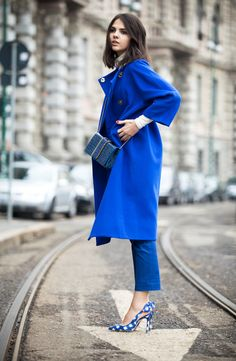 From Paris to London — (via MFW. Blue coat | The Golden DiamondsThe...