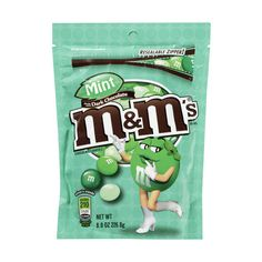 M&M'S Mint Chocolate Candies, 8 oz ($2) ❤ liked on Polyvore featuring food, food and drink, fillers, comida and candy