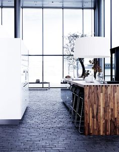 black brick floor - kitchen by Kvik via Passion for Shoes Brick Flooring, Wood Paneling, Floors, Dark Flooring, Unique Flooring, Flooring Tiles, Style At Home, Interior Architecture, Interior And Exterior