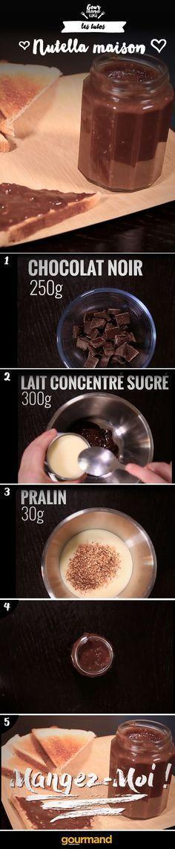 Rien de tel qu'un bon Nutella maison facile et rapide !☺ Plus
