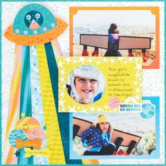 Dream And Design Big With This Outer Space Scrapbook Layout – Creative Memories Blog