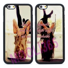 Blonde & Brunette Matching Silicone Case Cover for iPhone & Samsung Galaxy