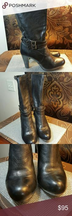 Frye Black Leather Miranda Slouch Boots size 7.5 The Frye Company Black Leather Boots size 7.5 in great condition. ..please see pictures for overall condition Frye Shoes Heeled Boots