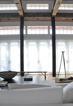 I leave you this week with a breathtaking barn designed by Briggs Edward Solomon…one look at the gorgeous wood walls (barn bedroom below) and I was transported back to the Verellen showroom! Loft Living, House Design, Loft Spaces, Barn Bedrooms, Residential Interior, Interior Architecture Design, Chandelier In Living Room, Interior Design, Interior Spaces