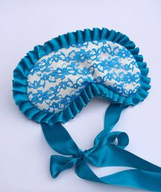 Blue Lace Sleep Mask, Silk Sleep Mask, Satin Sleep Mask,  Peekaboudoir, Bridal Gift, Bachelorette, Pajama Party, Mother's Day, Sleep Mask on Etsy, $23.00