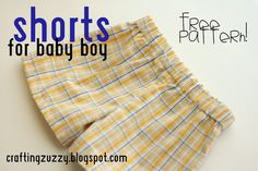 free pattern for baby shorts size 3 months