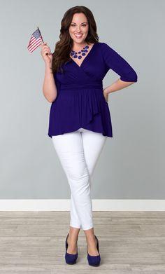 Plus Size Kiyonna Sweetheart Knit Wrap Dress | Best Wrap dresses ...