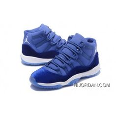 reputable site 3afba 61b23 2017 Air Jordan 11 Velvet Royal Blue-White