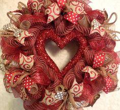 Valentine Wreath /Valentines Wreath / Valentines Day Wreath / Valentines Wreaths/Valenitne Wreaths/Red Valentine/Heart Wreath by GerardFamilyWreaths on Etsy https://www.etsy.com/listing/480628952/valentine-wreath-valentines-wreath