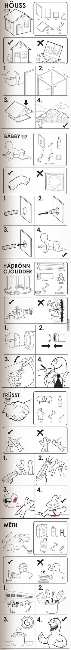 The building blocks of life don't come in a flat pack. [If Ikea Made Instructions for Everything]