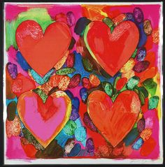 Famous Artist Birthdays! Jim Dine is an American Pop Artist who gained recognition in multiple mediums spanning everything from sculpture to painting. Four Hearts 1969  20th Century Masterworks available for purchase through Robin Rile Fine Art Contact info@robinrile.com
