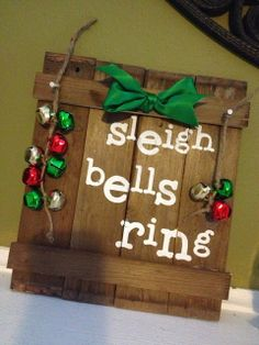 Pinkapotamus Sleigh Bells Ring sign made with #Pick Your Plum #vinyl