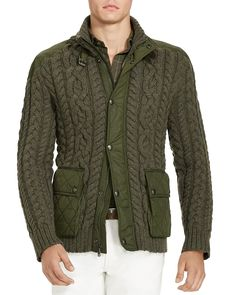 Polo Ralph Lauren Cable Knit Hybrid Sweater Jacket - 100% Bloomingdale's…