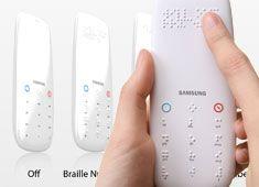 Control remoto con Braille