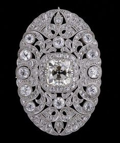 Cushion Round Halo Art Deco Vintage Style Brooch 925 Sterling Silver Cz Jewelry* #NikiGEMS