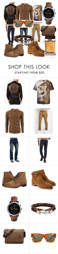 """#chick#ellegente#fashone#moda#men#fun#"" by hannazakaria ❤ liked on Polyvore featuring GUESS, Gap, Affliction, Polo Ralph Lauren, Red Wing, R.M.Williams, FOSSIL, Simon Carter, Tom Ford and D&G"