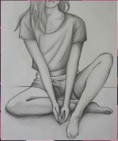 20 Super Ideas For Drawing Sketches Sketchbooks Paint - Skizzieren Easy Pencil Drawings, Girly Drawings, Cool Art Drawings, Drawings For Girls, Ballet Drawings, Pencil Drawing Tutorials, Art Tutorials, Girl Drawing Sketches, Drawing Ideas