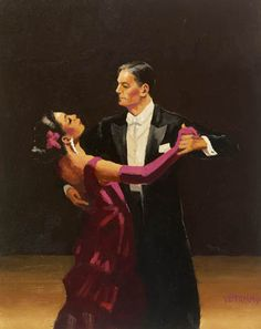 """Magnetic in Magenta"" - Painting by Jack Vettriano"