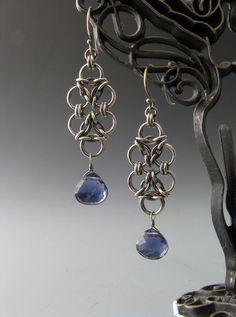 double aura earrings