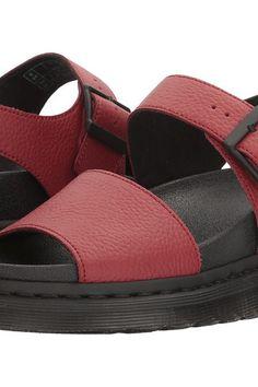 b6ae218163c Dr. Martens Romi (Dark Red Pebble Lamper) Women s Sandals - Dr. Martens