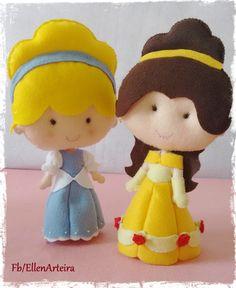 Cinderela e Bela - Princesas da Disney em Feltro