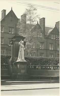 Florence Nightingale Statue,Derby Royal Infirmary ,now the main hospital is at Royal Derby, this statue is now looking worse for wear.It stands outside the old nursing school