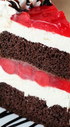 Black Forest Ice Cream Cake ~ The cherry flavor is definitely the star here!