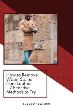 Rainy weather and stuck water puddles can make your leather accessories like leather purse, leather shoes or leather boots look paled and dirty. In this situation, avoiding leather is never a good choice. Instead, learn how to remove water stains from leather and look fabulous all the time. #clean #homehacks #DIY #cleaninghacks Tan Leather, Leather Shoes, Rubbing Alcohol Uses, Yoga For Flat Belly, Water Puddle, Remove Water Stains, Washing Soap, Dishwasher Soap, Rainy Weather