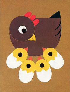 '6 little chicks' art & craft. Could link to rhyme chick, chick chick