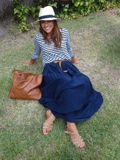 Paula Echevarría con #look marinero
