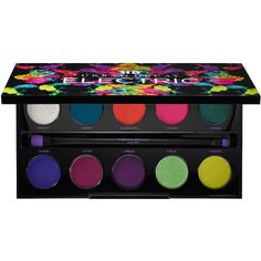 Urban Decay Electric Pressed Pigment Palette (310 VEF) ❤ liked on Polyvore featuring beauty products, makeup, eye makeup, eyeshadow, beauty, eyes, cosmetics, urban decay eye makeup, palette eyeshadow and shimmer eye shadow