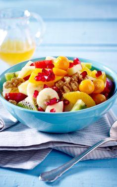 Dieser Obstsalat schmeckt nicht nur herrlich erfrischend und lecker, er ist zudem noch vitaminreich!
