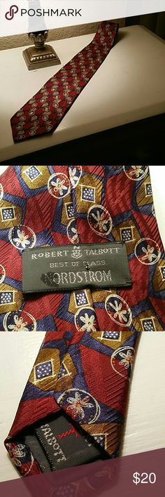 Robert Talbott for Nordstrom silk tie Great condition. The label is coming unsewn. No other flaws. Robert Talbott Accessories Ties