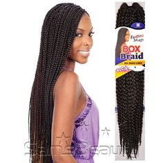 "FreeTress Synthetic Hair Crochet Braid Large Box Braids 20"""