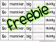 Go Away BIG Green Monster FREEBIE!!  dreambigkinders.blogspot.com