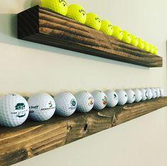 Delightful Hole-In-One Golf Gifts Ideas. Spectacular Hole-In-One Golf Gifts Ideas. Display Shelves, Display Case, Display Ideas, Rhode Island, Golf Ball Cake, Golf Mk4, Golf Room, Golf Ball Crafts, Wood
