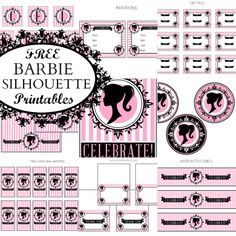 FREE Vintage Barbie Party Printables from Printabelle