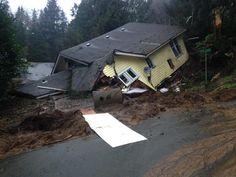 Landslides in Aberdeen, WA 1/5/15